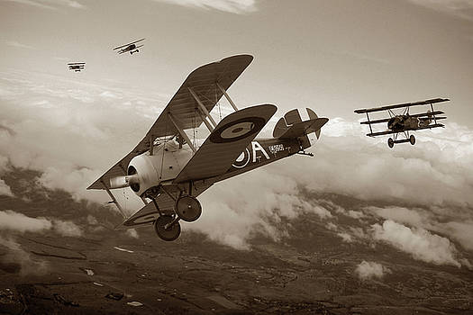 Slipping The Reaper - Sepia by Mark Donoghue