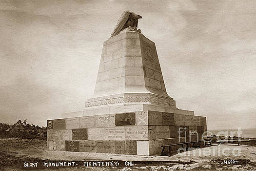 California Views Mr Pat Hathaway Archives - Sloat Monument on the Presidio of Monterey Circa 1910