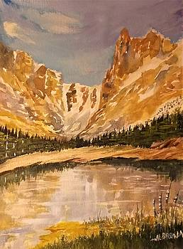 Sloping Mountain Reflections by Al Brown