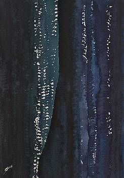 Slot Canyon in Moonlight original painting by Sol Luckman