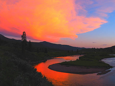 Slough Creek Sunset by Ryan Scholl