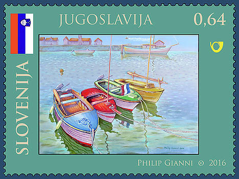 Slovenia Stamp by Philip Gianni