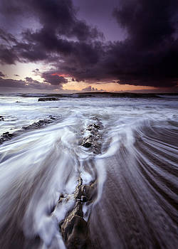 Dominick Moloney - slow wave on wet rocks County Clare