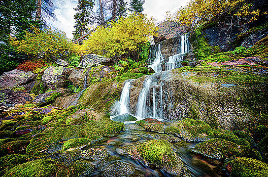 Small Autumn Waterfall by Kevin Rowe