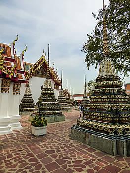 Small beautiful stupas at Wat Pho Temple by Helissa Grundemann