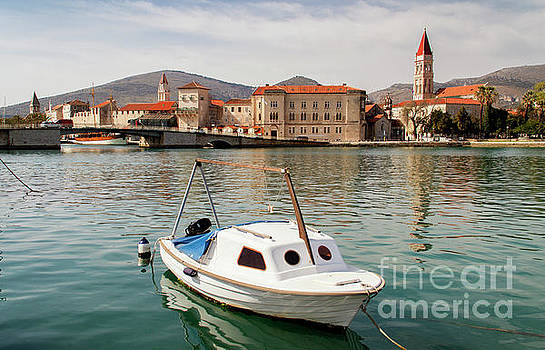 Small Boat at Trogir - Croatia by David Daniel