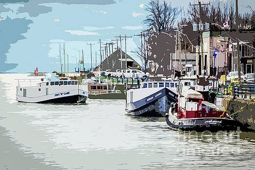 Small Boats in Port by Linda Joyce
