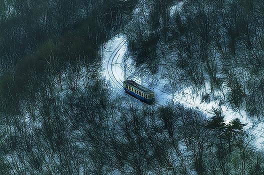 Enrico Pelos - SMALL CASELLA TRAIN SNOW LANDSCAPE