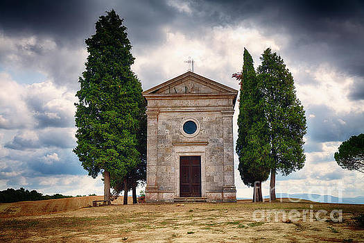 Small Chapel in the Tuscan Countryside by George Oze