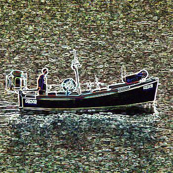 James Hill - Small Fishing Boat at Sea