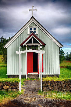 Small Icelandic Chapel by George Oze