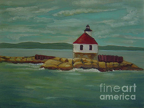 Small Island Lighthouse by Lilibeth Andre
