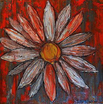 Small Painting Daisy 1 by Dimitra Papageorgiou