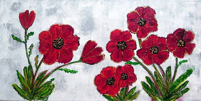 Small Poppies by Jackie Hoeksema