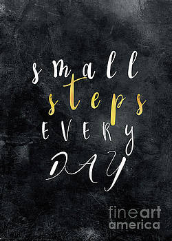 Small Steps Every Day motivational quote by Justyna JBJart