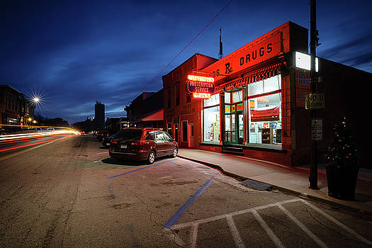Small Town Drug Store by Notley Hawkins