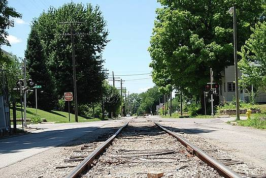 Small Town Railroad Tracks by Sin Lanchester