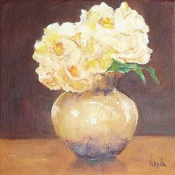 Small Vase with Roses  by Virgilla Lammons