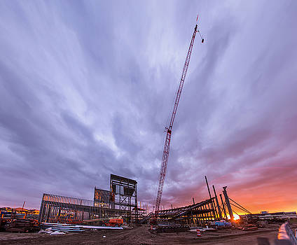 Smart Financial Centre Construction Sunset Sugar Land Texas 10 26 2015 by Micah Goff