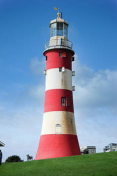 Smeaton's Tower Lighthouse Plymouth Hoe by Donald Davis