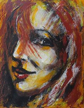 Smile - Portrait Of A Woman by Carmen Tyrrell
