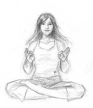 Smiling Yoga Girl by Brandy Woods