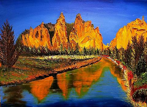 Smith Rock At Sunset 2 by Portland Art Creations