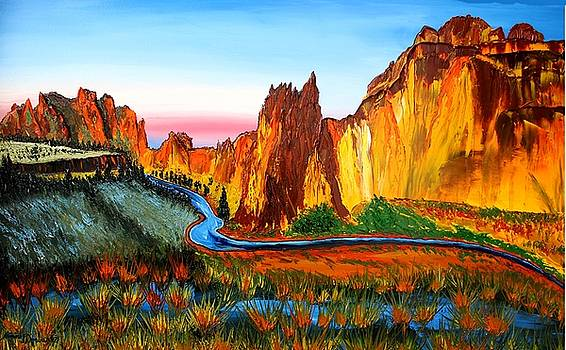 Smith Rock At Sunset 3 by Portland Art Creations