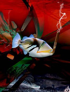 Smoke Break Triggerfish by Marvin Blaine