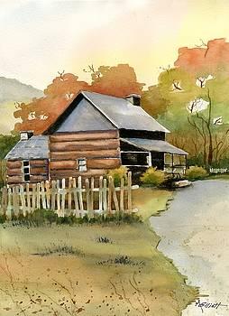 Smokey Mountain Cabin by Marsha Elliott