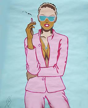Short Hair Woman Smoking by Stormm Bradshaw