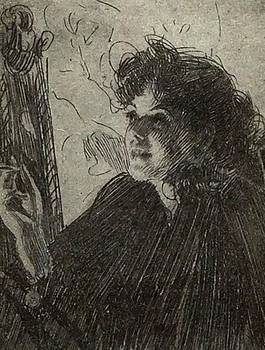 Zorn Anders - Smoking Woman 1907