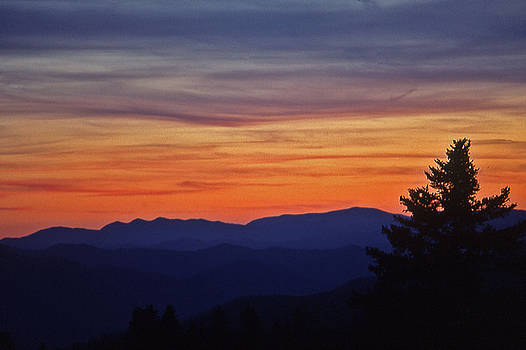 Smoky Mountain Sunset - 1 by Randy Muir