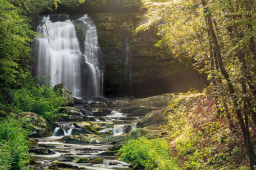 Smoky Mountain Waterfall by Keith Allen