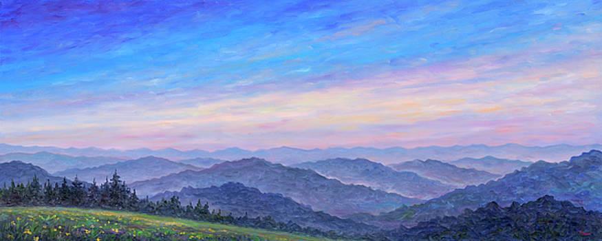 Smoky Mountain Wildflowers - Panorama by Jeff Pittman