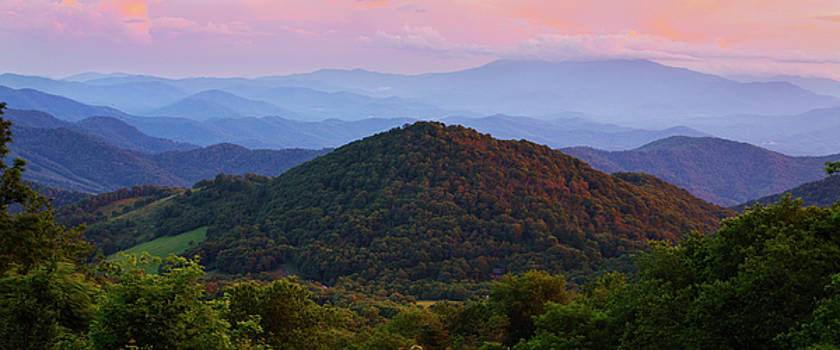 Smoky Mountains Sunset In Summer by Carol Mellema