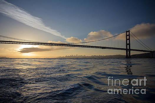 Smooth Golden Gate Sunrise by Hugh Stickney