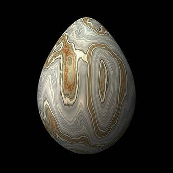 Hakon Soreide - Smooth Grey Marble Egg