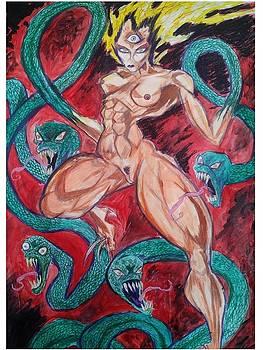 Snake Goddess Rising by Mark Bradley