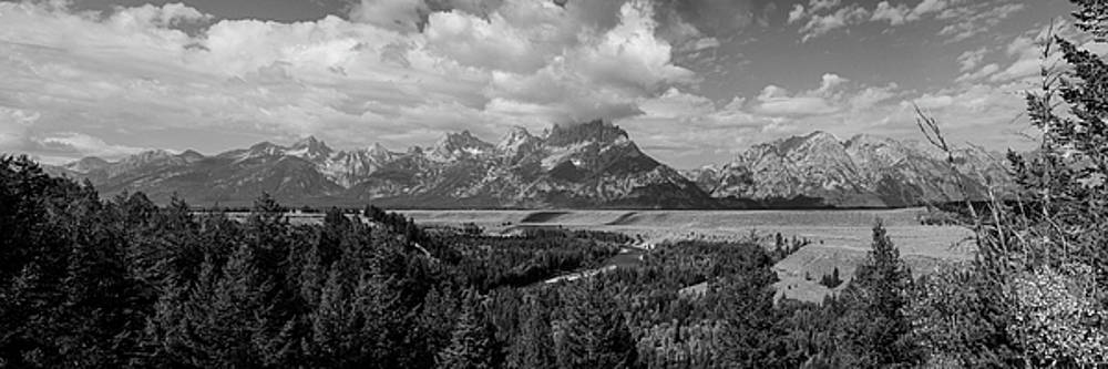 Snake River Teton Panorama View Monochrome by James BO Insogna