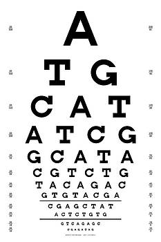 Martin Krzywinski - Snellen Chart - Genetic Sequence