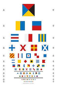 Martin Krzywinski - Snellen Chart - Nautical Flags