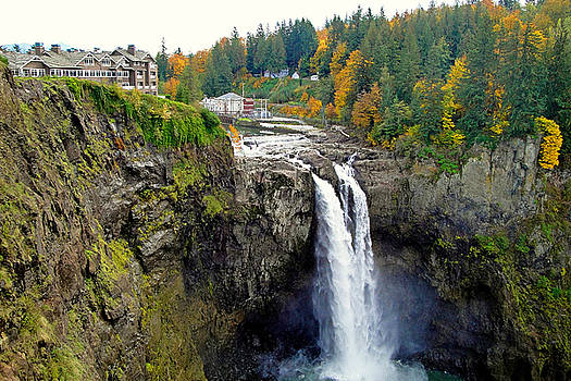 Snoqualmie Falls in Autumn 2 by Robert Meyers-Lussier