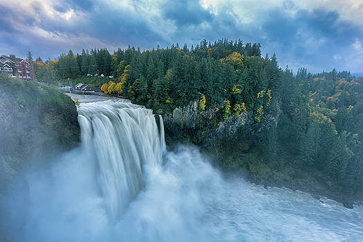 Snoqualmie Falls Rush Hour by Ken Stanback