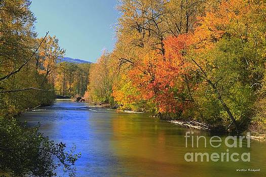 Snoqualmie River Autumn by Winston Rockwell