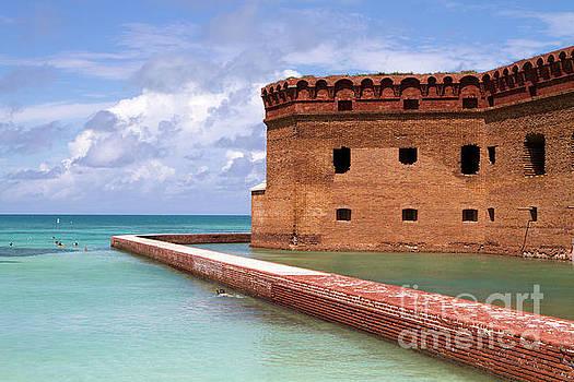 Snorkelers Fort Jefferson by Steven Frame