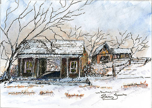 Snow at the Dog Trot by Barry Jones
