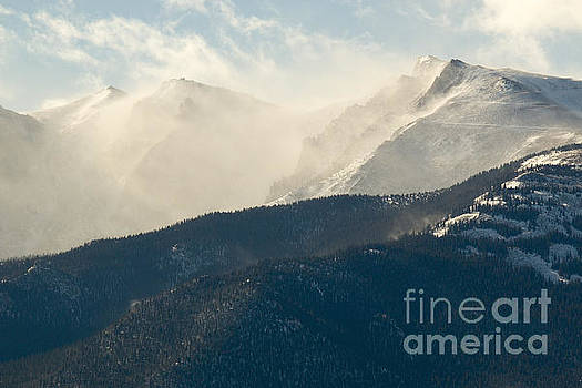 Steve Krull - Snow Blowing in Morning Light Pikes Peak