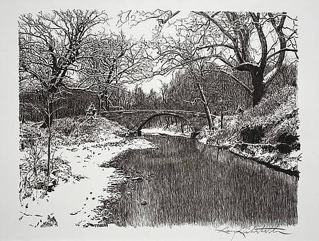Snow Bridge by Gary Gackstatter