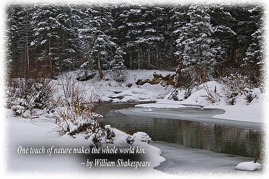 Snow by the riverside Shakespeare quote by Bianca Collins